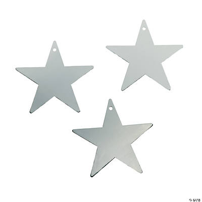 Small Silver Metallic Stars - 5""