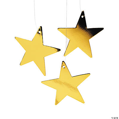Small Gold Metallic Stars - 5""