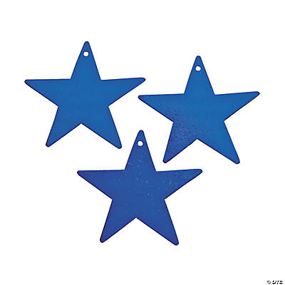 Small Blue Metallic Stars - 5""