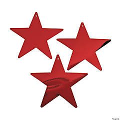 Large Red Metallic Stars - 9