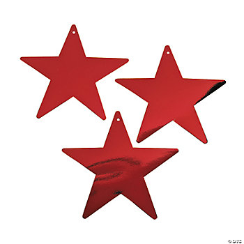 Red Medium Twinkling Stars