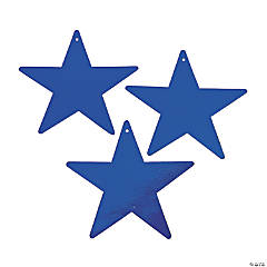 Large Blue Metallic Stars - 9