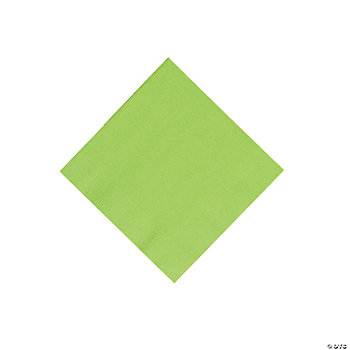 Lime Beverage Napkins