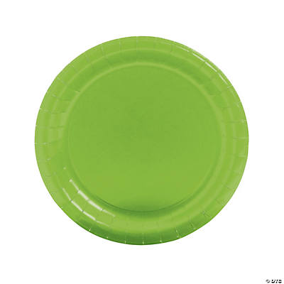 Round Lime Dinner Plates