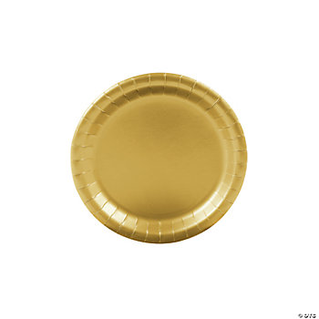 Metallic Gold Party Dessert Plates