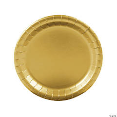 Round Metallic Gold Dinner Plates