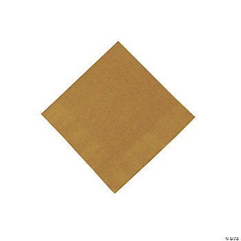 Metallic Gold Beverage Napkins