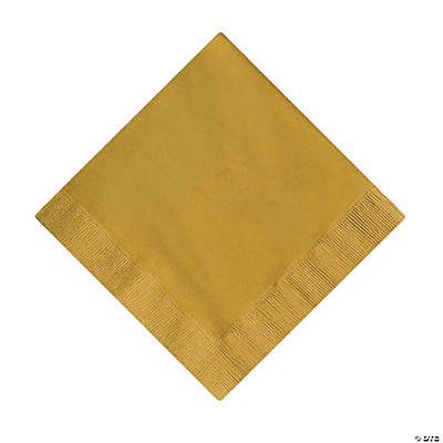 Metallic Gold Luncheon Napkins