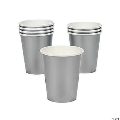 Metallic Silver Party Cups