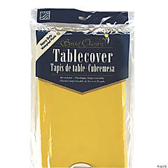 Gold Yellow Plastic Tablecloth