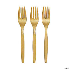 Metallic Gold Party Forks