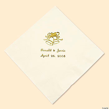 Ivory Personalized Wedding Napkins