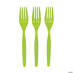 Lime Green Forks