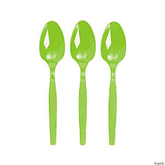 Plastic Lime Green Spoons
