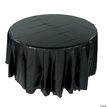 Black Round Table Cover