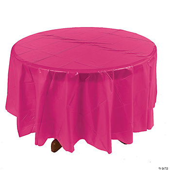 Hot Pink Round Table Cover