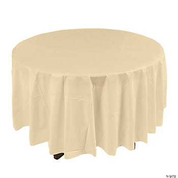 Ivory Round Table Cover