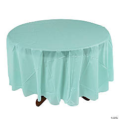 Light Blue Round Tablecloth