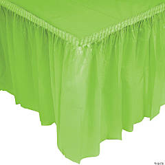 Plastic Fresh Lime Green Pleated Table Skirts