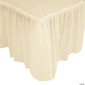 Ivory Pleated Table Skirts