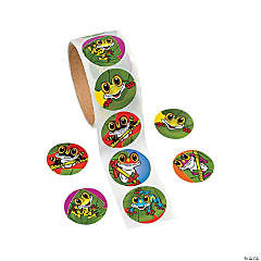 Frog Roll of Stickers