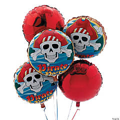 "8 Piece ""Pirate Party"" Birthday Balloon Set"