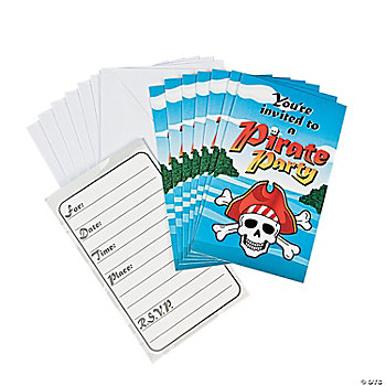 Pirate Party Invitations. Featuring a classic skull and crossbones design, ...