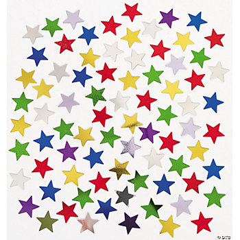 Rainbow Color Star-Shaped Confetti