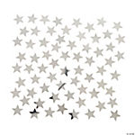 Silver Star-Shaped Confetti
