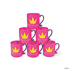 "Plastic ""Princess"" Mugs"