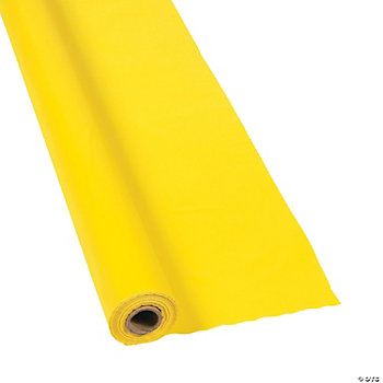 Yellow Tablecloth Roll