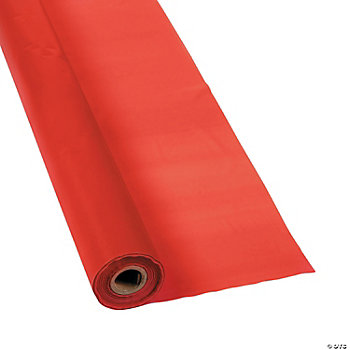Red Tablecloth Roll