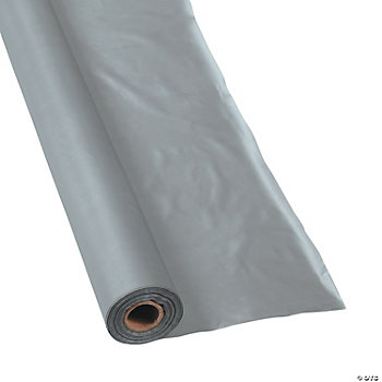 Metallic Silver Tablecloth Roll