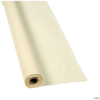 Plastic ivory tablecloth roll