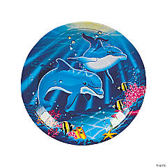 Paper Dolphin Dinner Plates