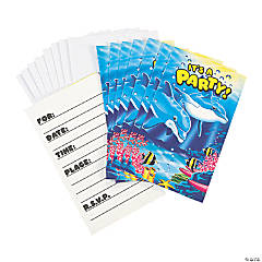 Dolphin Party Invitations