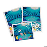 Make-A-Under Water Dolphin Scene Sticker
