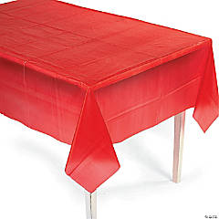 Red Plastic Tablecover (54
