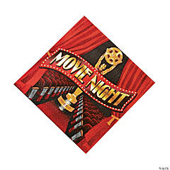"""Movie Night"" Luncheon Napkins"
