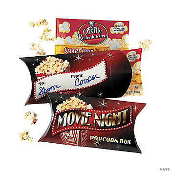 Movie Night Popcorn Boxes With Popcorn