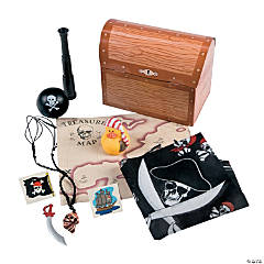 Filled Treasure Chest Treat Boxes
