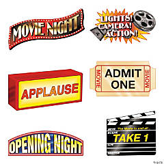 Movie Night Cutouts