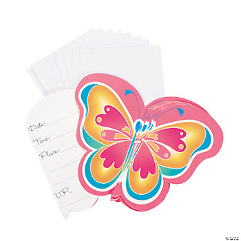 Butterfly Kids Party Invites