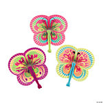 Colorful Butterfly-Shaped Folding Fans