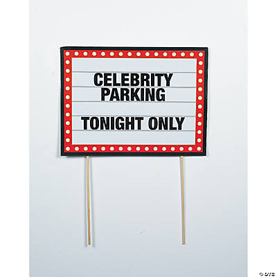 Celebrity Parking Yard Sign
