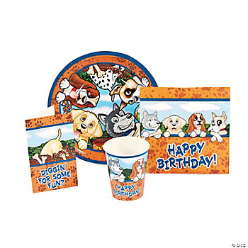 Birthday Puppy Tableware & Invitations