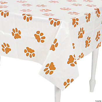 Puppy Paw Print Table Cover