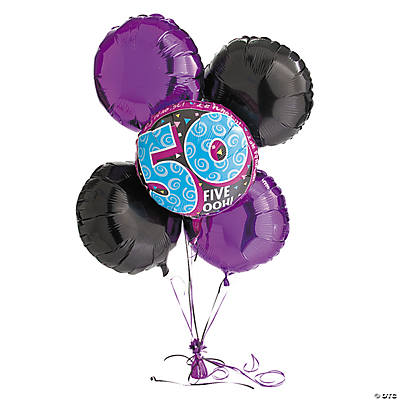 Look Who's 50 Birthday Balloon Set