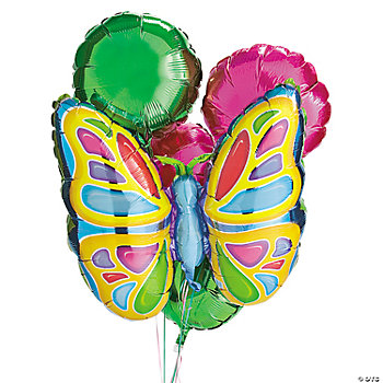 8 Pc. Butterfly Birthday Balloon Set