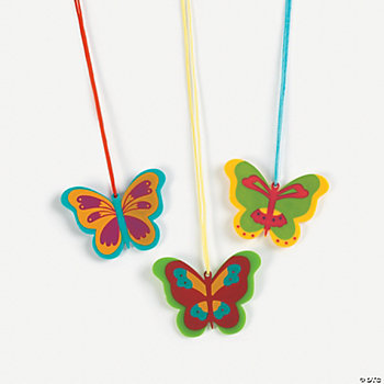 12 Butterfly Charm Necklaces